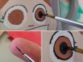 peinture à la main.